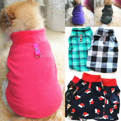 Small Pet Dog Warm Fleece Vest Clothes Coat Puppy T Shirt Sweater Winter Costume