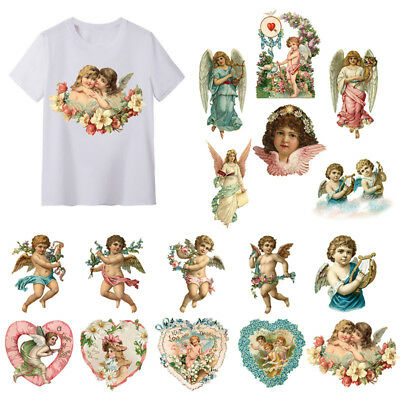 16 Angel Series Clothes Iron On Appliques Heat Transfer Stickers DIY Printing