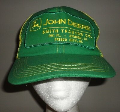 Vintage JOHN DEERE SMITH TRACTOR CO. Patch K PRODUCTS Mesh Snapback Trucker Hat