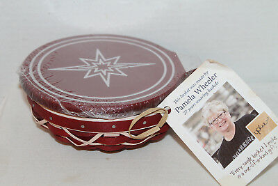 Longaberger 2016 New Holiday Helper Ornament Red Basket,  Protector, Lid, Tag