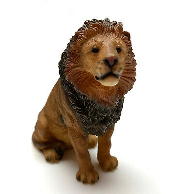 """Lion  Figurine Living Stone 3"""" Resin Statue New Collectible"""