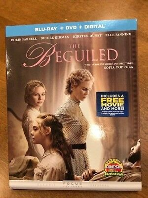 THE BEGUILED (Blu-Ray+DVD+ Digital 2017; 2-Disc Set) Farrell Kidman Dunst ~ NEW