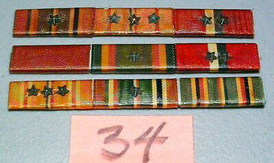 WWII US NAVY Good Conduct Medal Second & Third Award Bar