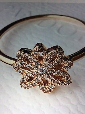 28befc2be New Authentic Pandora 150182CZ Lace Botanique 14K Gold G585 Ring $400 Size  7.5