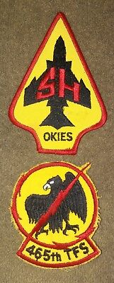 NOS US Air Force 465th tactical Fighter Squadron Color Patch Lot of 2