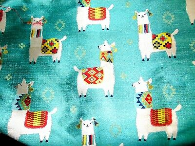 """Upscale Woven """"alpaca Play Aqua"""" Patterned Upholstery - 2 1/3 Yards X 58 Inches"""