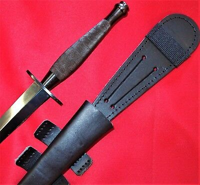 *used Australian British Army Marines Fairbairn & Sykes Commando Knife Sword Ww2
