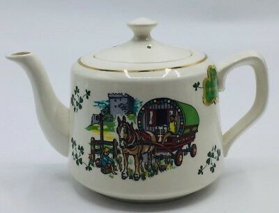"Carrigaline Pottery Teapot 4 1/2"" Tall Republic Of Ireland Cork Ireland"