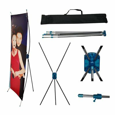 """Tripod X Banner Stand 24"""" X 63"""" Trade Show/Store Display Flexible self-tension"""
