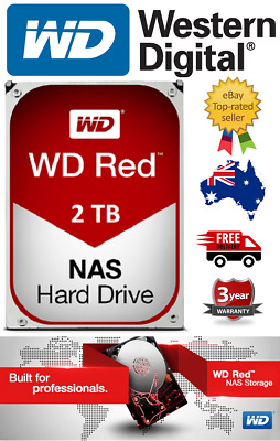 "Western Digital WD Red 2TB 3.5"" Internal NAS Hard Drive HDD WD20EFRX"
