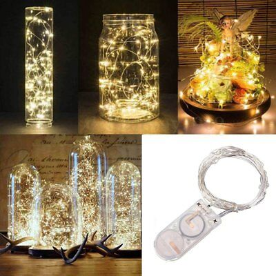20 LEDs Battery Operated Mini LED Copper Wire String Fairy Lights 2M Decor