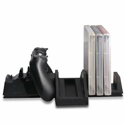 Vertical Stand Controller Charger Cooling Fan Games Storage Holder for PS4 Pro A