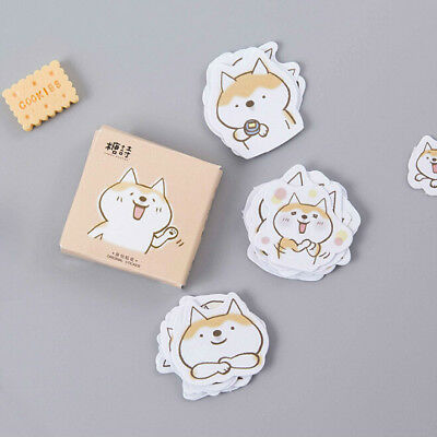 45pcs/lot Cute Dogs Diy Diary Stickers Scrapbooking Sticky Stationery Decoration