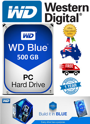 "Western Digital Blue 500Gb 3.5"" SATA Internal Hard Drive Brand New 7200RPM"