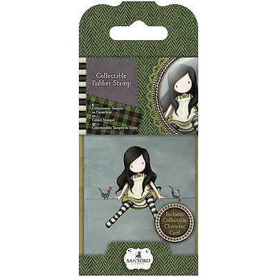 Gorjuss Mini Collectible Rubber Stamp #12 On Top of the World