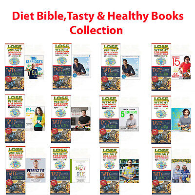 Diet Bible,Tasty & Healthy Lose Weight Fit Foods Collection 3 Book set NEW Pack