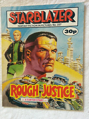 """Starblazer #237  """"ROUGH JUSTICE"""" published by DC Thomson"""