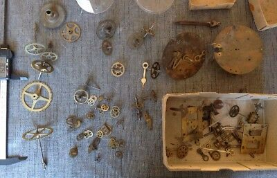 Antique Clock Parts Hac And Other Cogs Wheels Ex Clockmakers Collection
