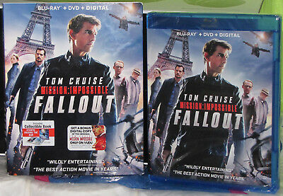032429309891 Mission: Impossible Fallout Blu-ray + DVD + Digital New
