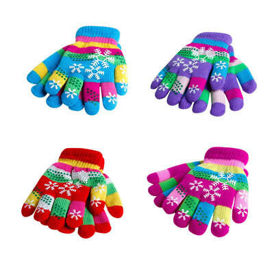 UK KIDS Magic Gloves Pair Winter Warm Girls Boys Stretch Black Soft for 1-3Years
