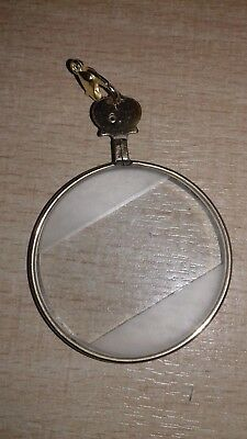 Quirky Vintage Antique Pendant Magnifying Quizzing Glass Lorgnette Steampunk #6