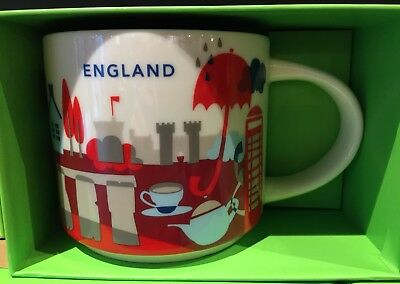 Starbucks England Mug Cup YAH You are here City Collectible London Free Postcard