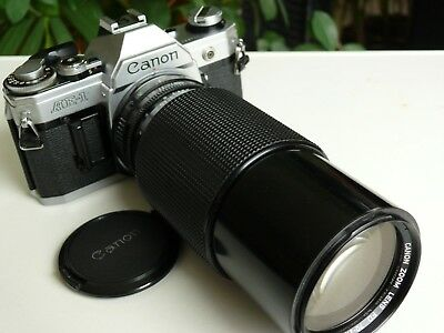 Canon AE-1 (ohne Asthma) mit Canon FD Zoom 70-210 mm - sehr guter Zustand