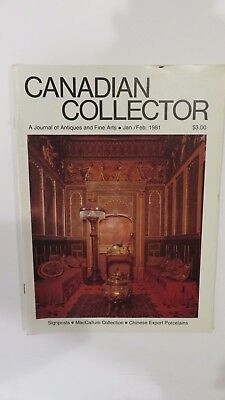 Canadian Collector magazine,signposts, MacCallum , Chinese porcelain, Jan 1981