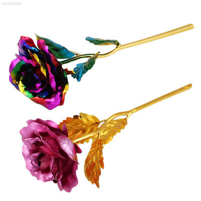 28A1 Elegant Romantic 24K Golden Gilded  Rose Festive Party Supplies Gifts pink