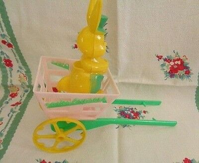 Vintage Rosen Easter Express Cart and Bunny Missing Rooster
