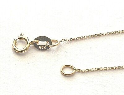 GENUINE 9ct GOLD FINE MICRO BELCHER LINK NECKLACE - VARIOUS LENGTHS AVAILABLE