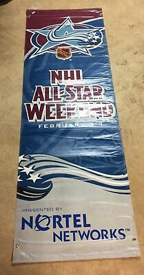 2001 NHL All-Star Street Banner - Denver Colorado - Double Sided