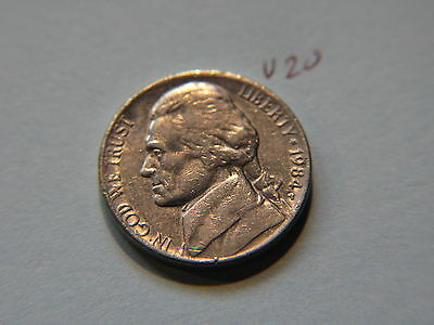 1984 P Nickel 5c Five Cent coin, Jefferson 5 cents USA