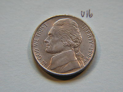 1999 P Nickel 5c Five Cent coin, Jefferson 5 cents USA
