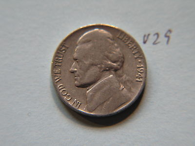 1941 Nickel 5c Five Cent coin, Jefferson 5 cents USA