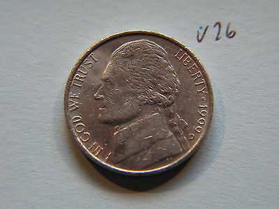 1999 D Nickel 5c Five Cent coin, Jefferson 5 cents USA