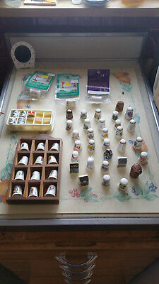 Large Lot Collectible Thimbles