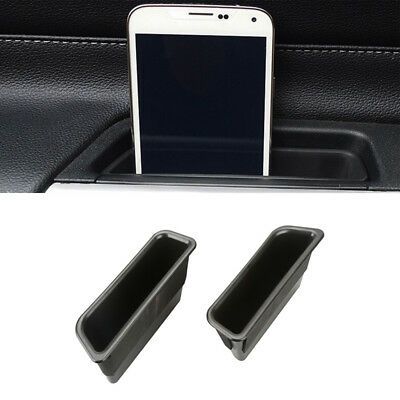 2x Car Inner Door Side Handle Storage Box Cover Trim Fit 2015-2017 Ford Mustang