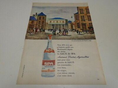 Les Eaux De Spa    Lot De 3 Publicites  Differentes  De  1962