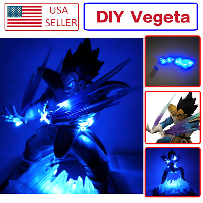 Anime Dragon Ball Zore Super Saiyan Vegeta Galik Gun Figure Toy Set DIY LED LAMP