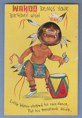 Vintage Hallmark Birthday Card - Wahoo brings your Birthday Wish - indian