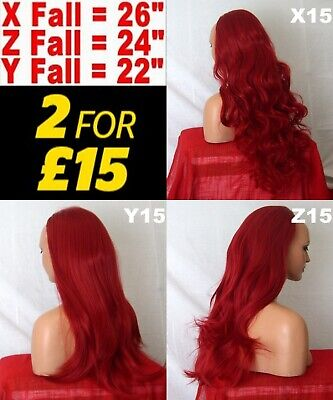 PILLAR RED Long Curly OR Flick Layered OR Straight Half Wig