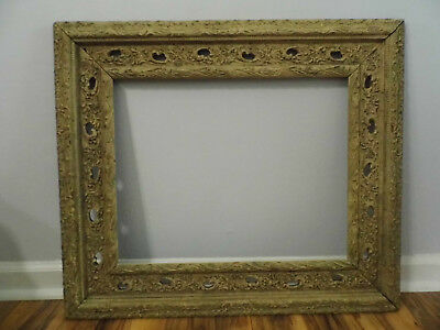 Antique Carved Wood Gesso Ornate Picture Frame 25 x 29 Fits 16 x 20