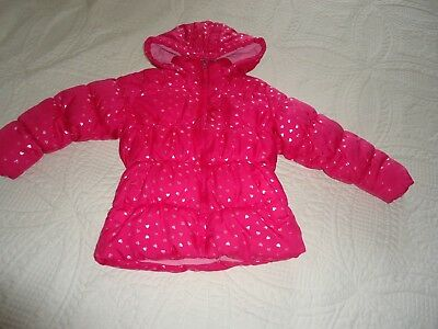 Vertical 9 Girls Puffer Hooded Jacket Coat Pink Silver Size 3T