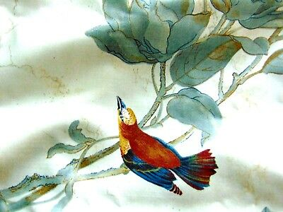 """""""reigate"""" Parchment Birds & Floral Fabric - 2 1/3 Yards X 55 Inches"""