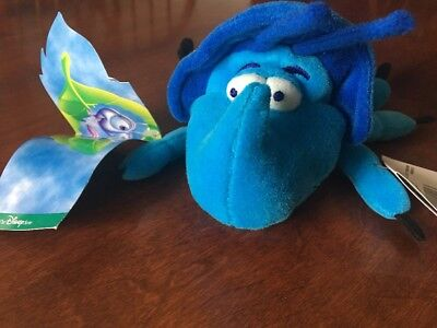 "Disney Store Exclusive A Bug's Life Dim 7"" Plush Bean Bag Toy New"