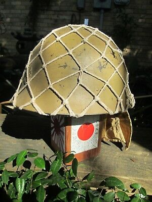 WWII JAPANESE TYPE 90 NAVAL HELMET - Restored to SNLF