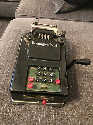Vintage 1940s (?) Remington Rand Hand Crank Adding Machine Display Parts Repair