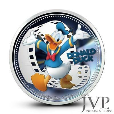 Niue 2014 $2 Disney Mickey & Friends 2014 Donald Duck 1 Oz Silver Proof Coin