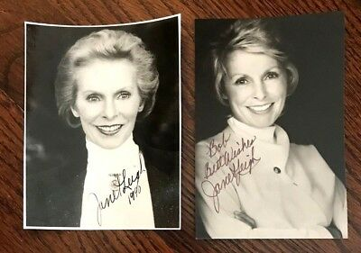 Janet Leigh, Two Signed B&W Photos, Actress, Singer, Dancer, Psycho